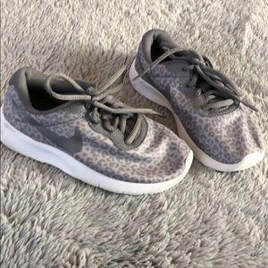 Grey Leopard Nike's